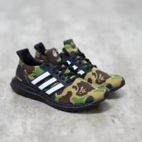 Sepatu Bathing Ape (Bape) x Ultraboost Green Army Authentic