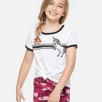 Baju kaos pendek anak perempuan branded original Justice unicorn ori