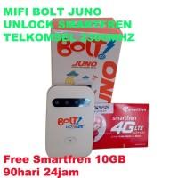 MiFi Modem WiFi 4G Bolt Juno. UNLOCK. FREE Kartu Perdana Smartfren 10G