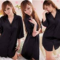 Baju tidur mini daster korea pijama wanita satin nyaman murah sexy