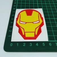 Cutting Sticker Iron Man 5x7cm bahan oracal