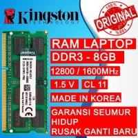 RAM KINGSTON DDR3 8GB 1600MHZ 12800 ORI RAM LAPTOP DDR3 RAM NB DDR3