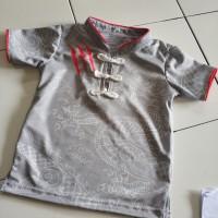 Baju Celana Cina Wushu Kungfu Olahraga Anak 6 7 tahun Abu abu Dragon