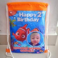 Tas Souvenir Ulang Tahun Anak Serut Ransel Custom