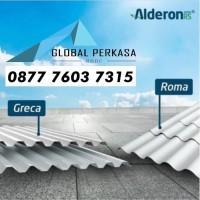 Alderon RS GRECA (Gelombang Kotak) 690mm Atap uPVC 1.2mm Single Layer