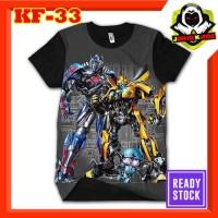 Kaos Optimus Prime Bumblebee Transformers Baju Karakter Film Murah