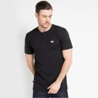 DICKIES-PRINCIPLE UNI SEX S/S HENLEY KU4170121-Kaos T-shirt Pria-BLACK