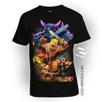 Baju 3D COC HEROES -2 by Square tersedia ukuran Anak Dewasa Bahan Katu