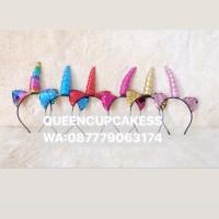 bando unicorn kuping glitter berubah warna import rainbow fanta gold m