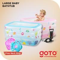 Large Baby Bath Tub Spa Kolam Free Pump Pompa Ban