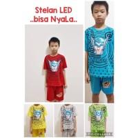 Baju Kaos Setelan Anak - LED Thor