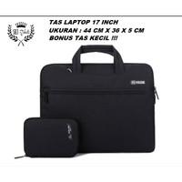 Tas Laptop 17 inch Kanvas WATERPROOF Tebal Impor Fashion Korea