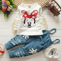Baju Setelan Anak Perempuan 3-5 Tahun Setelan Kaos Anak Cewek HSA004