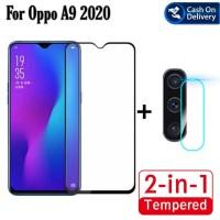 Tempered Glass Oppo A9 2020 Pelindung Layar dan Kamera Belakang