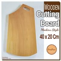 Wooden Cutting Board 40x20 Cm Talenan kayu unik wood Chopping board 35