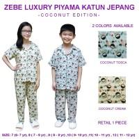 Zebe Luxury Piyama Katun Jepang - Coconut Edition