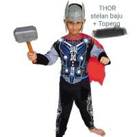 baju kostum topeng Thor. kostum superhero anak