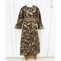 Gamis Batik Anak Prada Emas Baju Batik Gamis anak perempuan