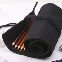 ❤❤ School Pencil Case Roller Canvas Roll Up Makeup Canvas Pen Bag