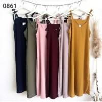 overall maxi dress baju muslim overal korea tanktop panjang long