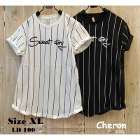 CHERON 16827-Kaos Oblong Wanita Dewasa Fit XL Baju Atasan Cewek Tumblr