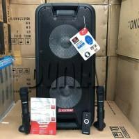Speaker Portable Meeting Wireless Asatron HT 8872 UKM Bluetooth 2x 10