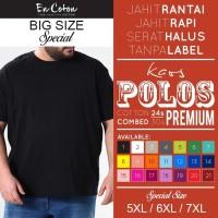 Kaos Polos Tanpa Label PREMIUM DEWASA JUMBO/ BIG SIZE uk. XXXXL