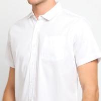 PPSS Kemeja Polos Putih Pria Lengan Pendek Simple Baju Katun Cowok
