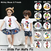 Kaos / Baju Anak Mickey & Minnie Mouse