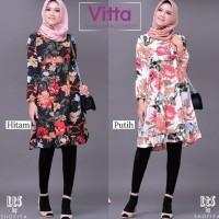 Vitta Tunik-tunik motif bunga-atasan panjang-tunik muslim