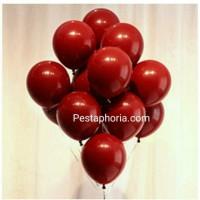Balon Latex / Lateks Metalik 12 inch Warna Pomegranate Red