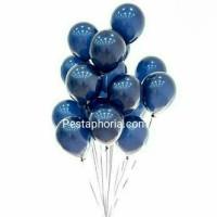 Balon Latex / Lateks Metalik 12 inch Warna Midnight Blue
