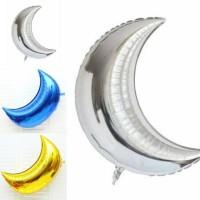 Balon Foil Crescent Moon / Bulan Sabit Size 22 inch / 55 cm