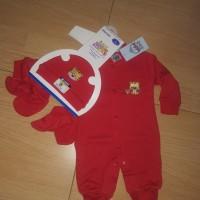 Jumper bayi set merah Baby Lucky