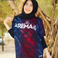 Baju Kaos original asli Pemain Arema Aremania bahan katun combed mbois