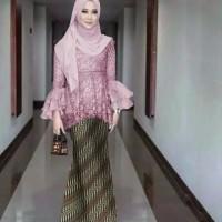 AF Setelan Baju Kebaya Brukat Batik Modern Terbaru Kinay