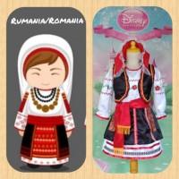 Kostum Anak Perempuan Baju Tradisional Negara Rumania 2 - 12 Tahun