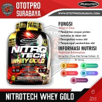 Muscletech Nitrotech Whey Gold 6Lbs/Nitro Tech/6 Lbs/nitrotek/susu/gym