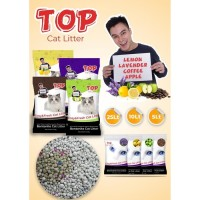 Pasir kucing gumpal wangi TOP cat litter 20kg Pasir Bentonite Kucing