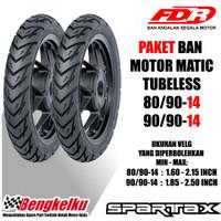 PAKET BAN FDR SPARTAX TUBELESS 80/90-14 DAN 90/90-14 MOTOR MATIC