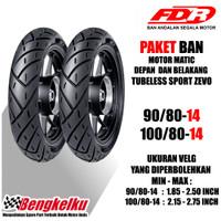 PAKET BAN MOTOR MATIC SPORT ZEVO 100/80-14 DAN 90/80-14 BEAT VARIO MIO