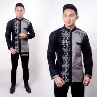Baju Batik Koko Pria Lengan Panjang Modern M-L-XL