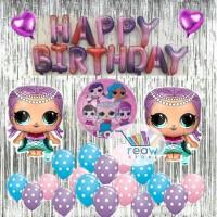 Paket Dekorasi Balon Ulang Tahun Happy Birthday Tema LOL Surprise
