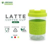 Arniss Latte Coffee Cup Gelas Botol Minum Tumbler Kopi 480 ml DC 0805