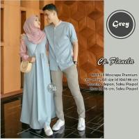 Couple Gamis Flanela Murah Model terbaru - Baju Gamis Seragam Pesta
