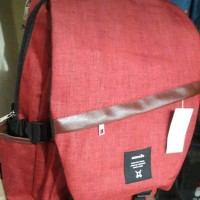 tas ransel. tas punggung merah maron. annelo annello anello murah sale