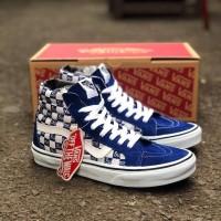 Vans sk8 chekeboard x supreme blue ( sepatu vans / sepatu tinggi )