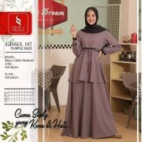 Seply Gissel 187 - Baju Muslim Gamis Dress Syari Termurah Original
