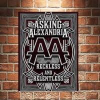 Asking Alexandria Reckless Poster Kayu Pajangan Dekorasi Dinding