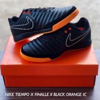 Sepatu Futsal Nike Tiempo X 10 Finale II 2 - Black Orange IC